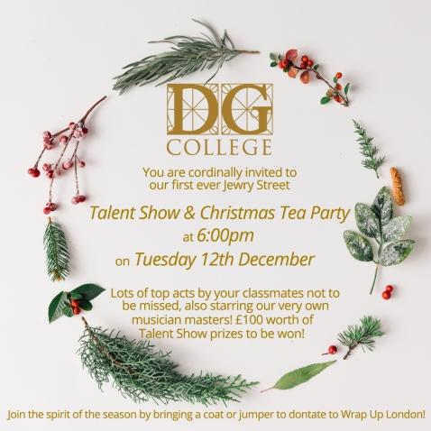 Christmas Tea Party David Game College Blog