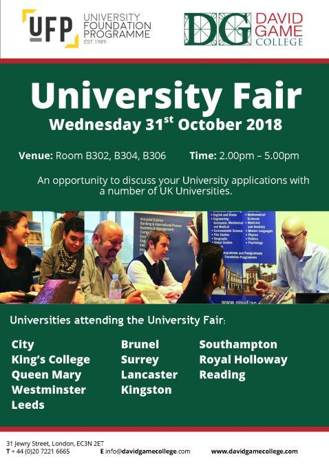 University Fair V1 -2018